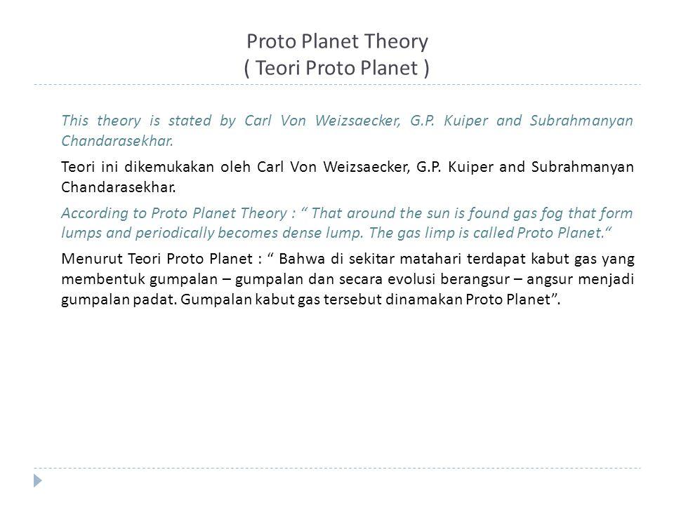 Proto Planet Theory ( Teori Proto Planet )