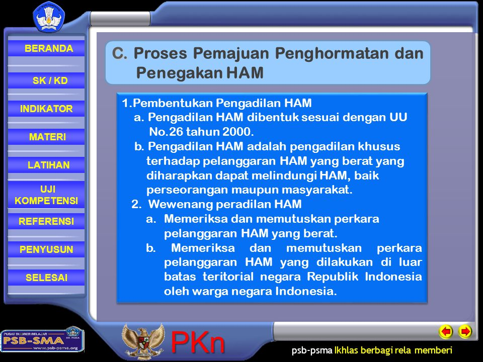 C. Proses Pemajuan Penghormatan dan Penegakan HAM