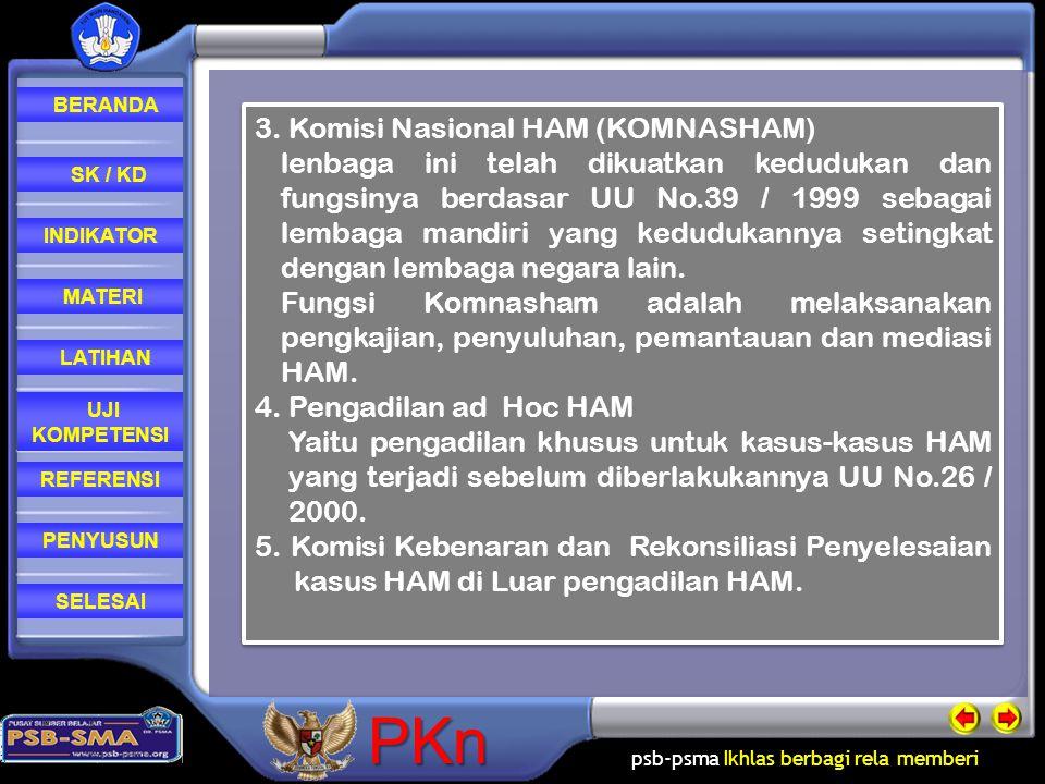 3. Komisi Nasional HAM (KOMNASHAM)