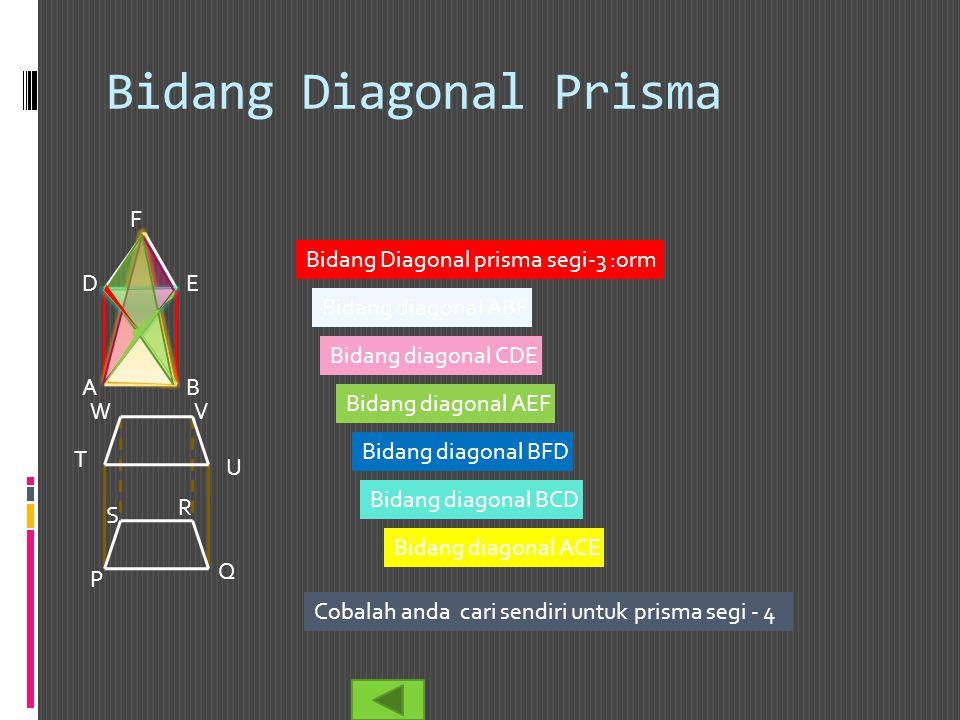 Bidang Diagonal Prisma