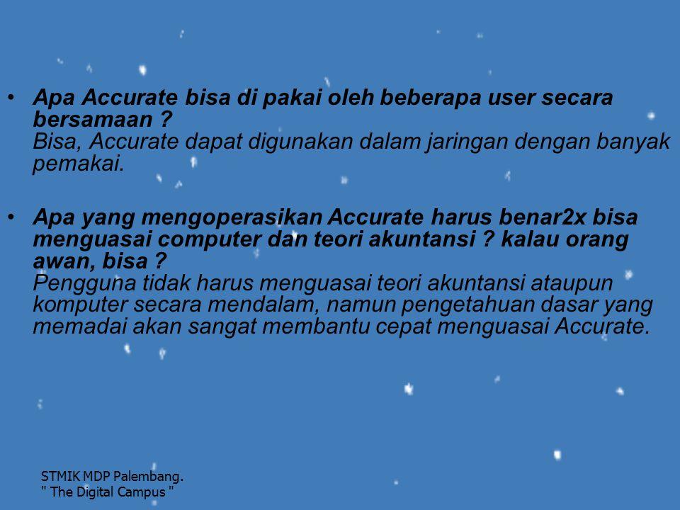 Apa Accurate bisa di pakai oleh beberapa user secara bersamaan