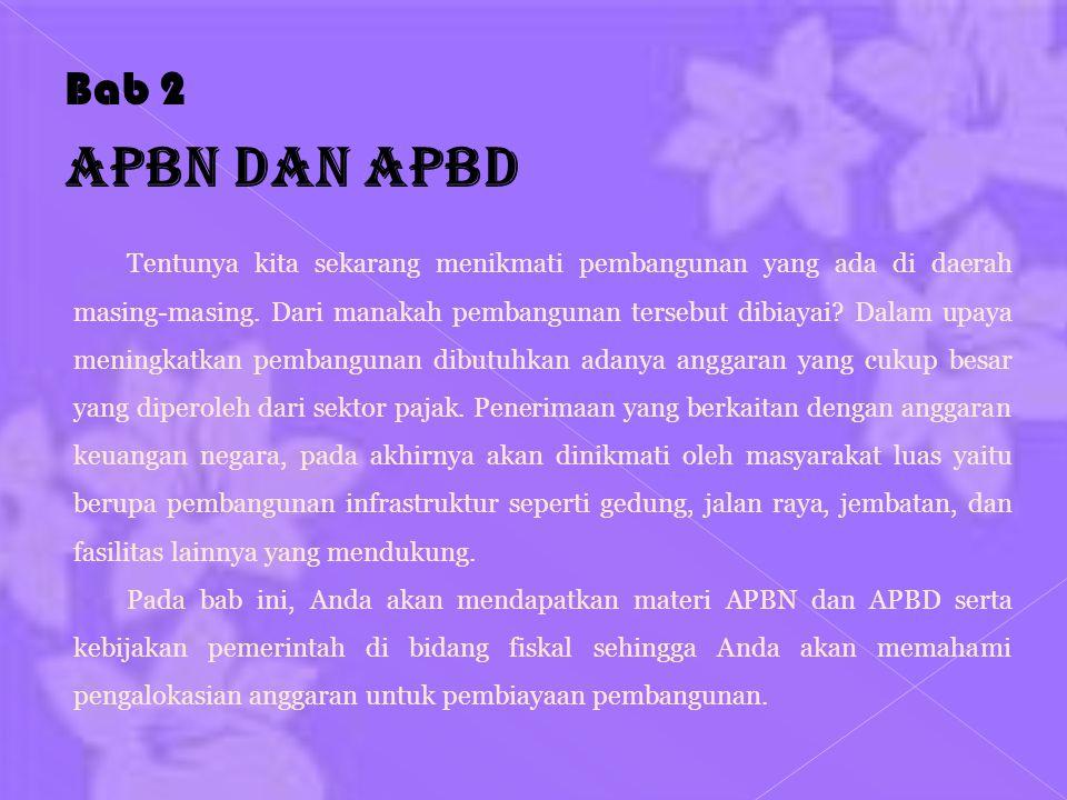 Bab 2 APBN dan APBD.