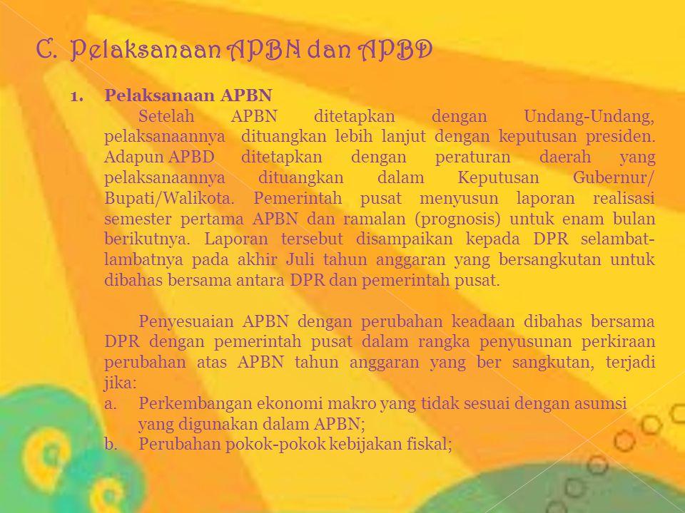 Pelaksanaan APBN dan APBD