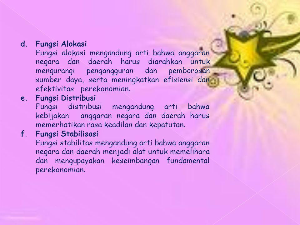 d. Fungsi Alokasi