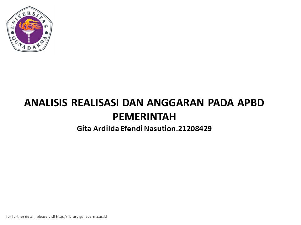 ANALISIS REALISASI DAN ANGGARAN PADA APBD PEMERINTAH Gita Ardilda Efendi Nasution.21208429