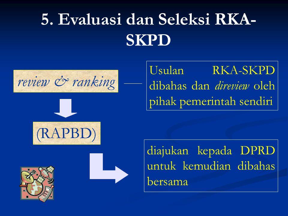 5. Evaluasi dan Seleksi RKA-SKPD