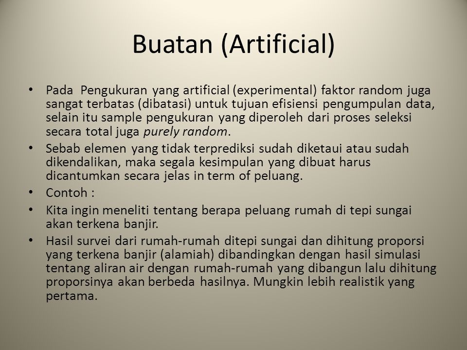 Buatan (Artificial)