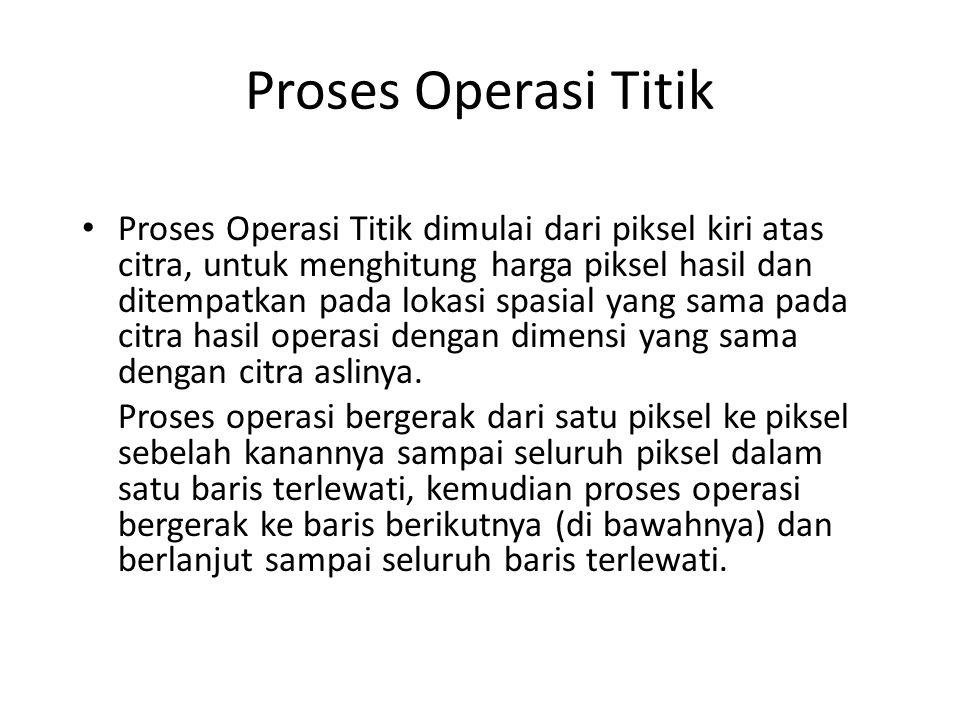 Proses Operasi Titik