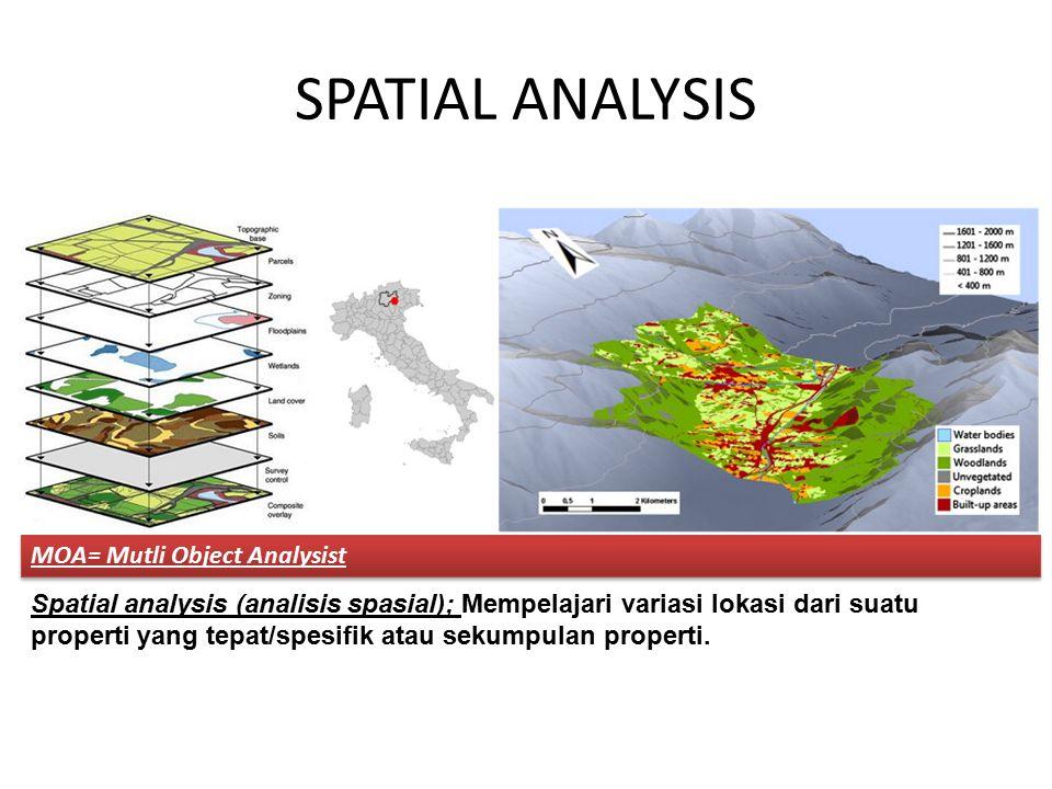 SPATIAL ANALYSIS MOA= Mutli Object Analysist