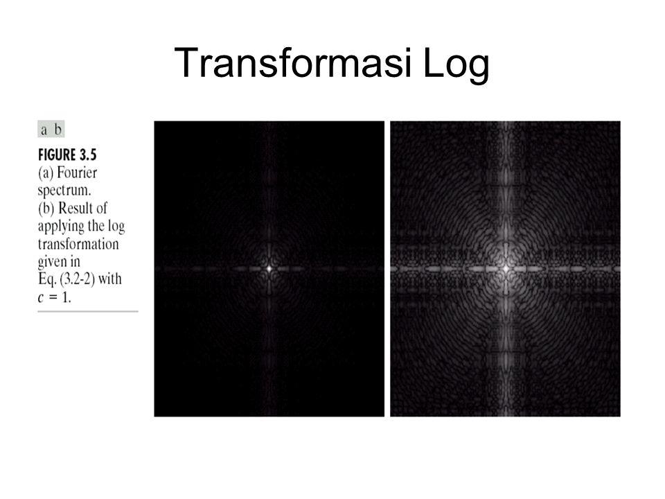 Transformasi Log
