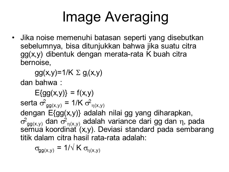Image Averaging