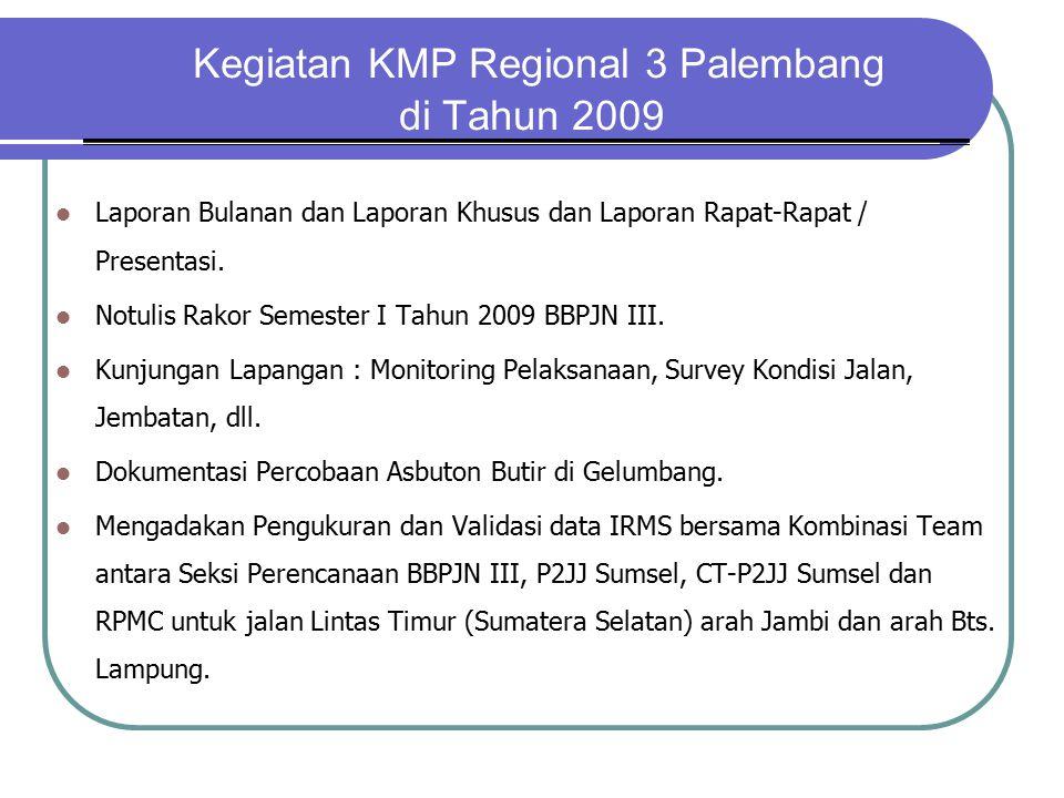Kegiatan KMP Regional 3 Palembang di Tahun 2009