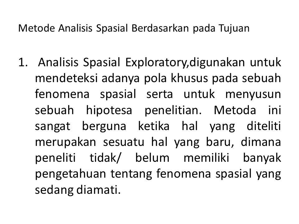 Metode Analisis Spasial Berdasarkan pada Tujuan