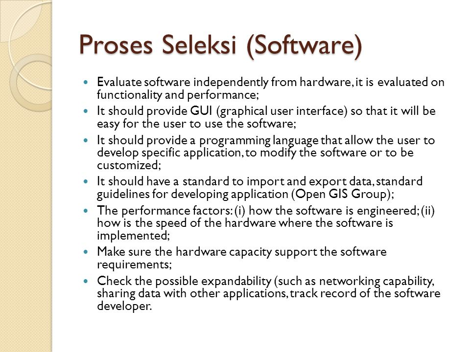 Proses Seleksi (Software)