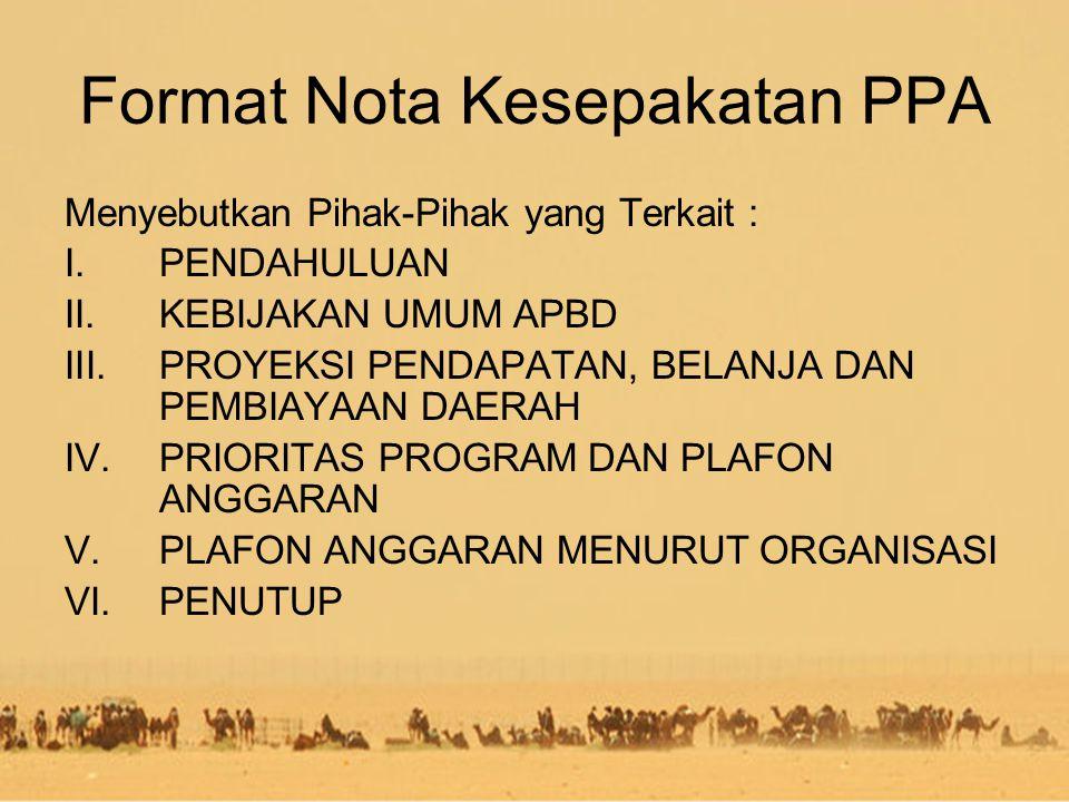 Format Nota Kesepakatan PPA