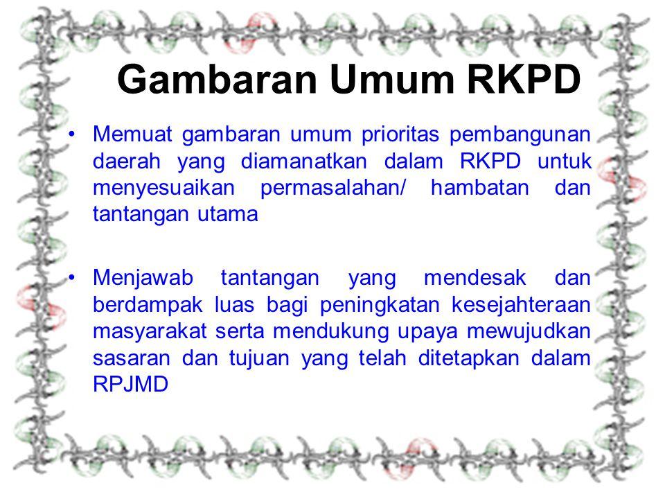 Gambaran Umum RKPD
