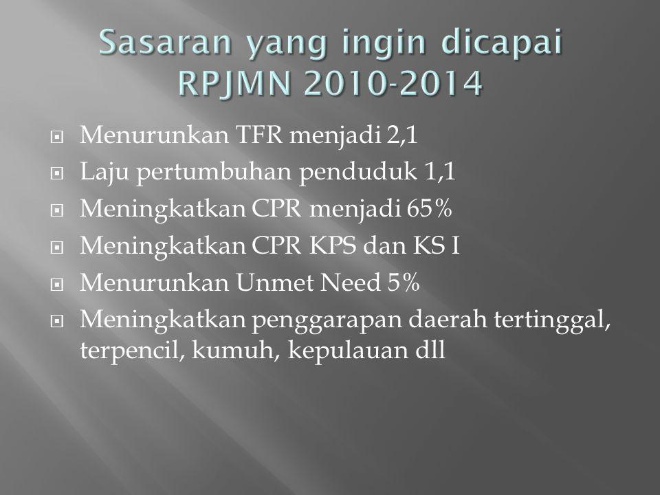 Sasaran yang ingin dicapai RPJMN 2010-2014