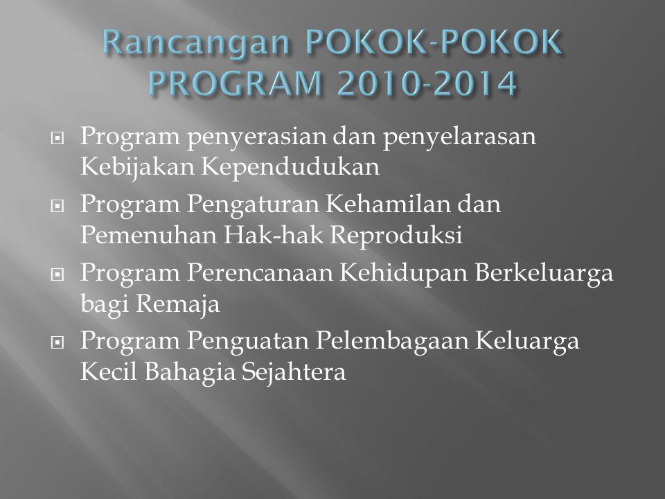 Rancangan POKOK-POKOK PROGRAM 2010-2014