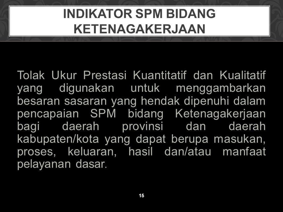 Indikator SPM Bidang KetenagakerjaaN