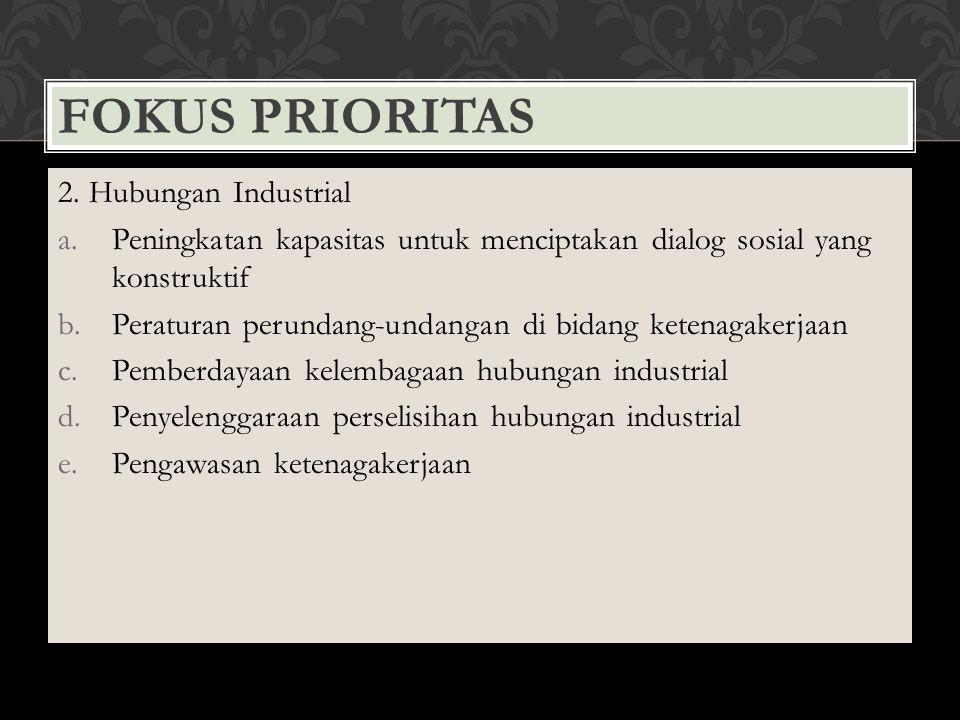 Fokus Prioritas 2. Hubungan Industrial