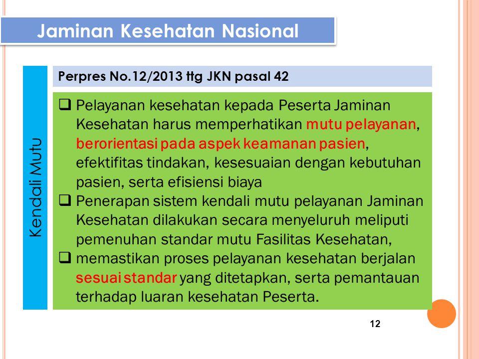 Jaminan Kesehatan Nasional