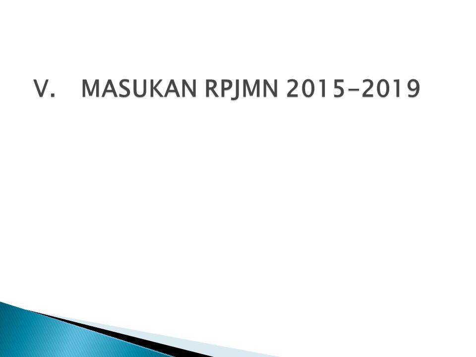 V. MASUKAN RPJMN 2015-2019