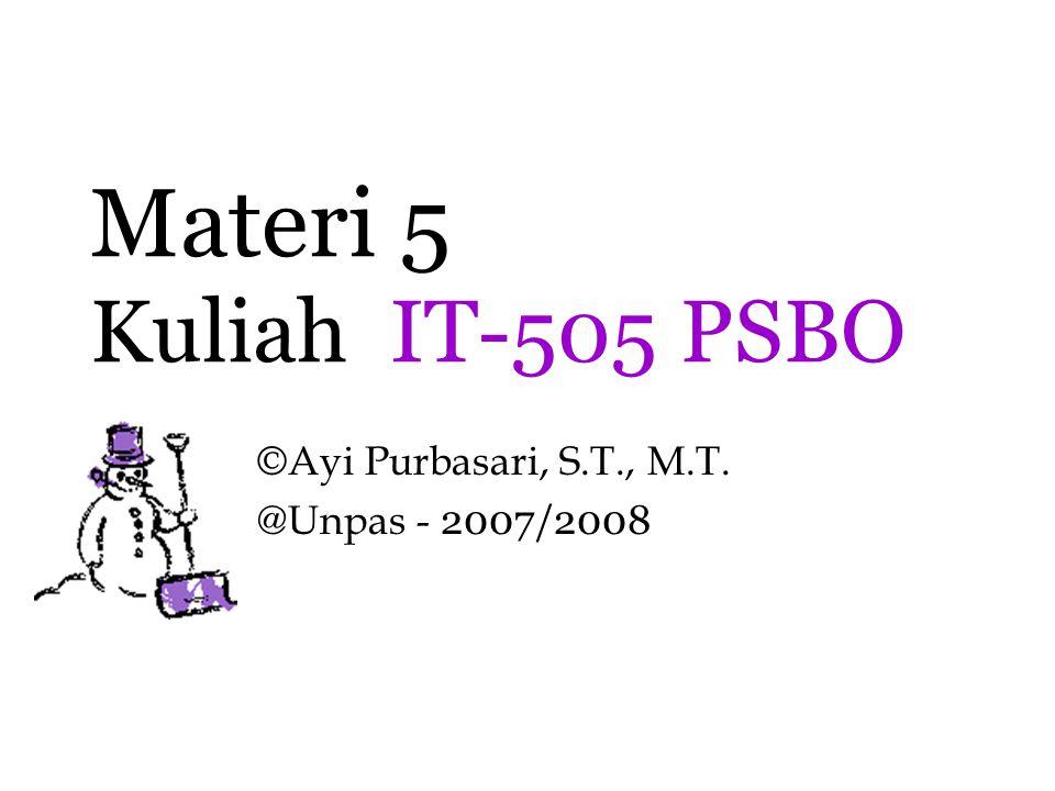 ©Ayi Purbasari, S.T., M.T. @Unpas - 2007/2008