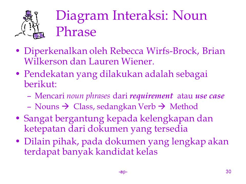 Diagram Interaksi: Noun Phrase