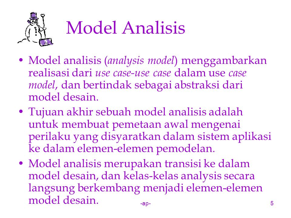 Model Analisis