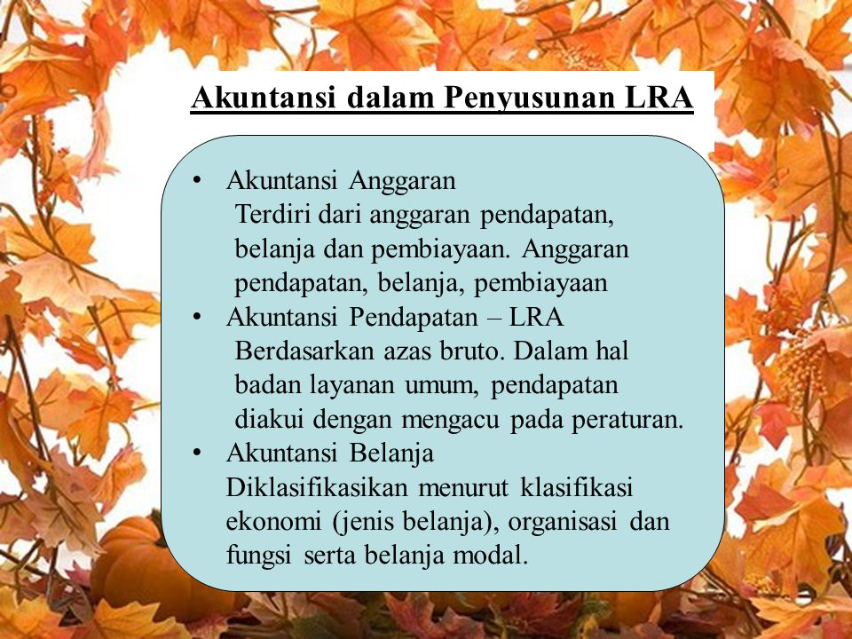 Akuntansi dalam Penyusunan LRA