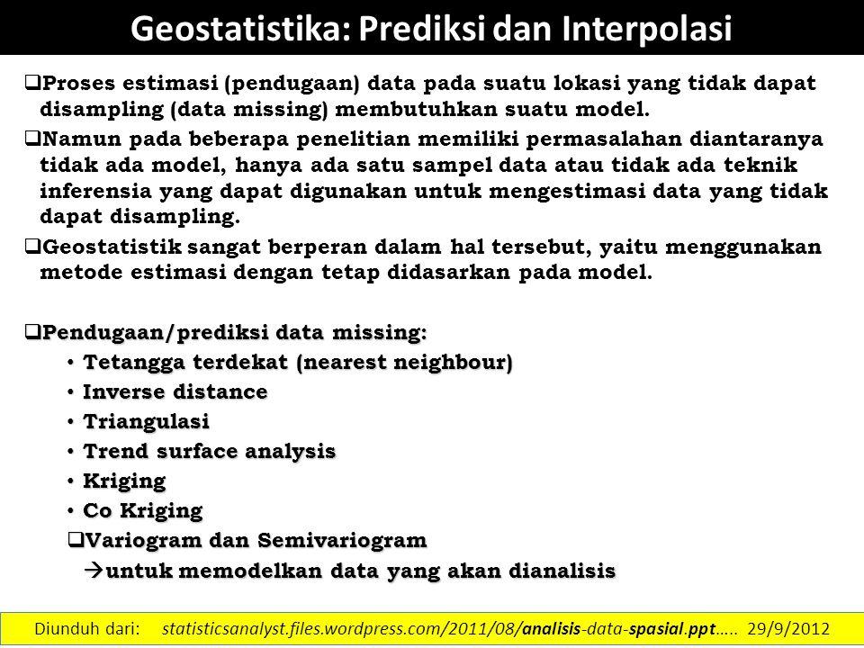 Geostatistika: Prediksi dan Interpolasi