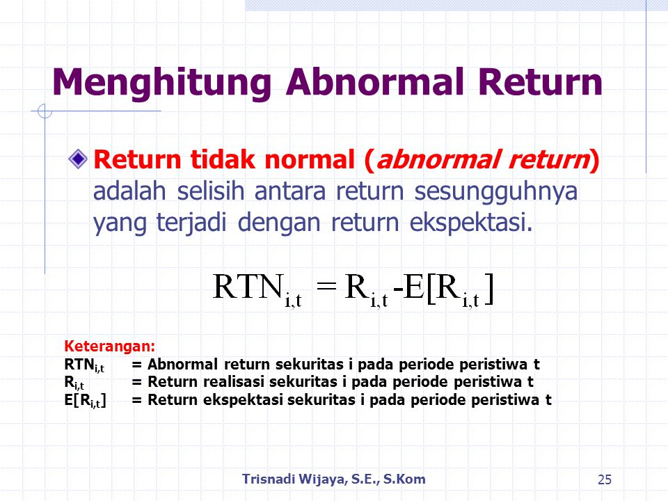 Menghitung Abnormal Return