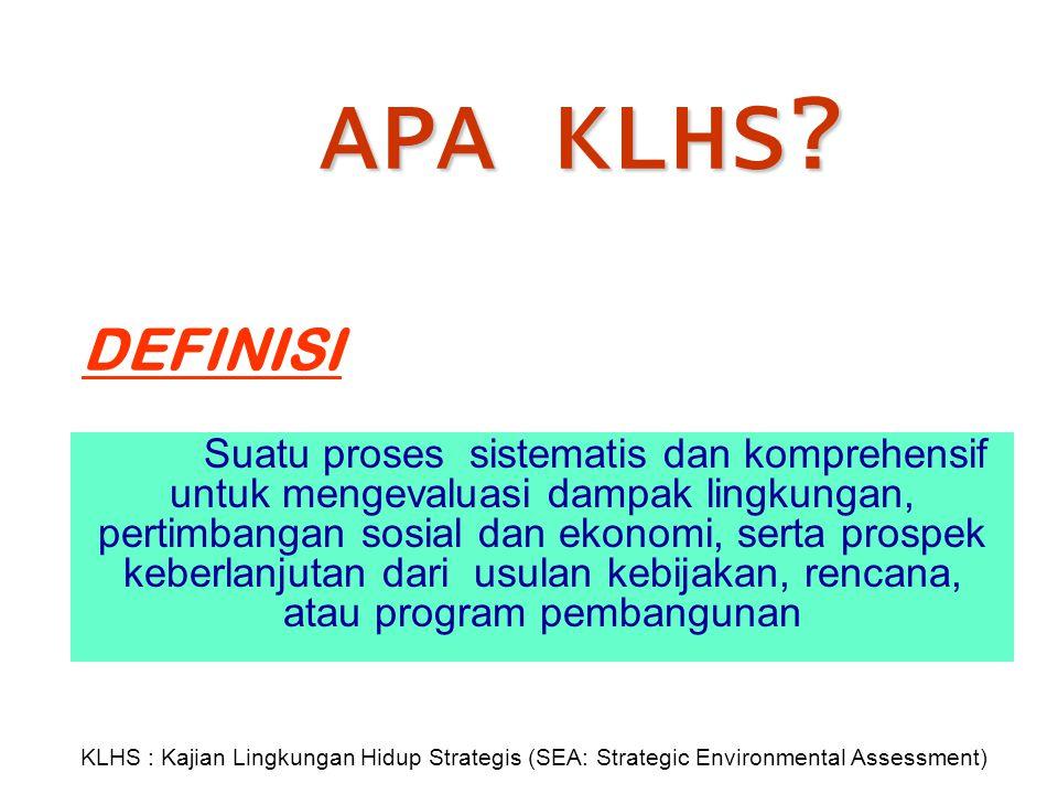 APA KLHS DEFINISI.
