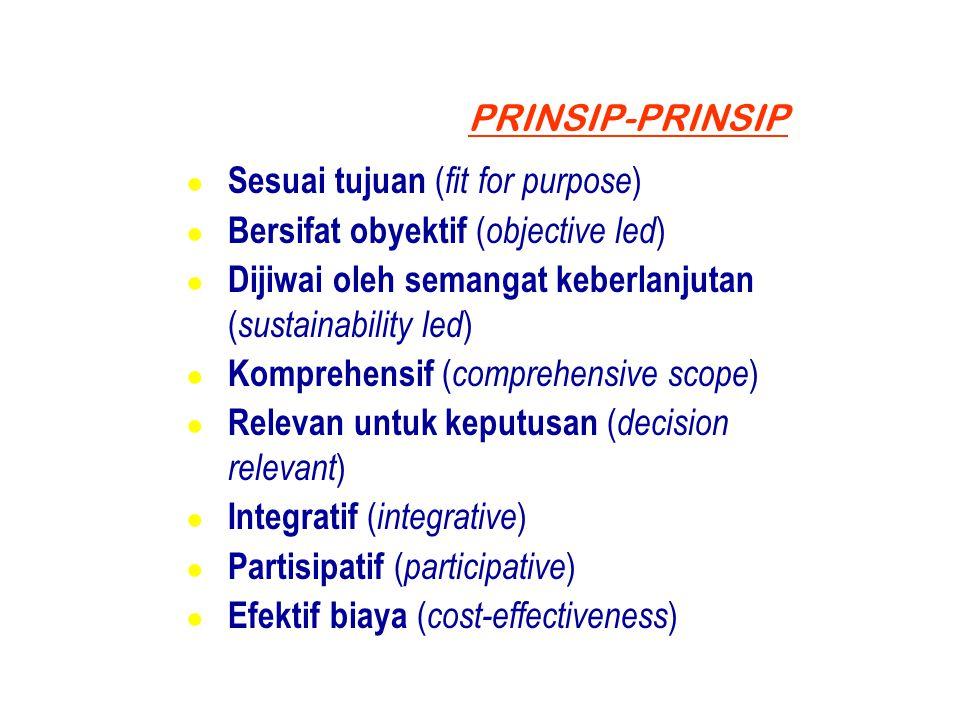 Sesuai tujuan (fit for purpose) Bersifat obyektif (objective led)