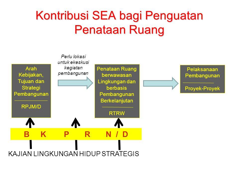 Kontribusi SEA bagi Penguatan Penataan Ruang