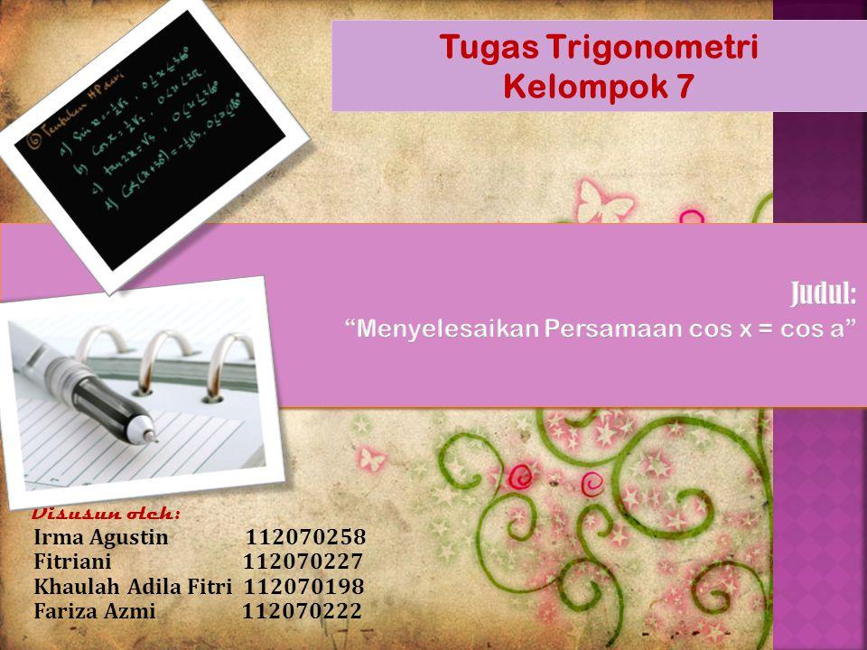 Tugas Trigonometri Kelompok 7