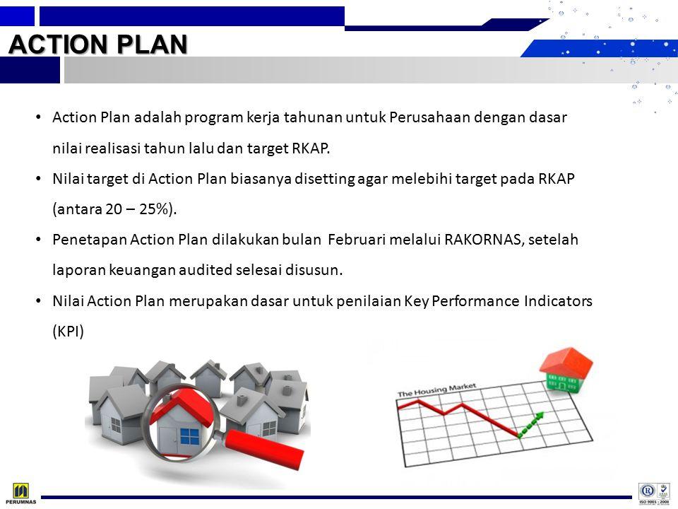 ACTION PLAN Action Plan adalah program kerja tahunan untuk Perusahaan dengan dasar nilai realisasi tahun lalu dan target RKAP.