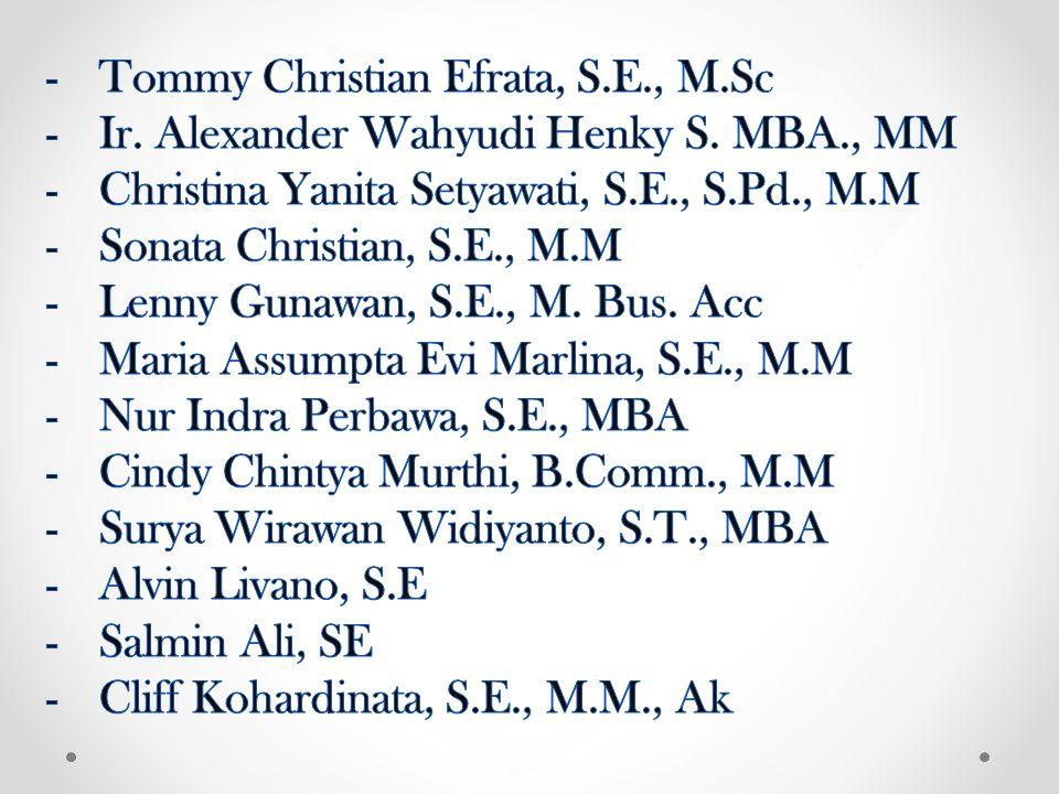 Tommy Christian Efrata, S.E., M.Sc