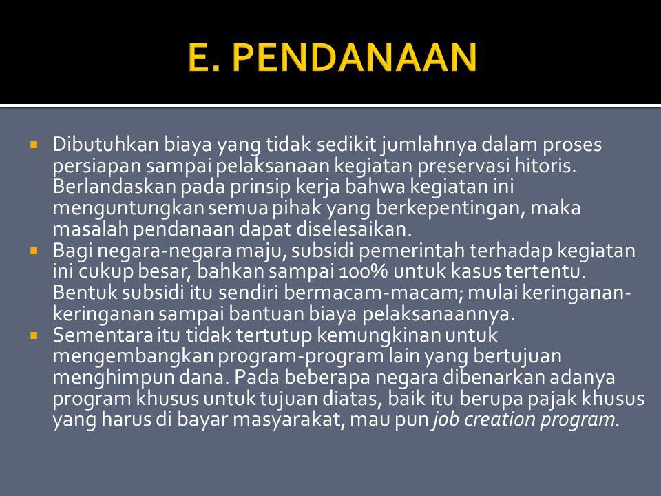 E. PENDANAAN