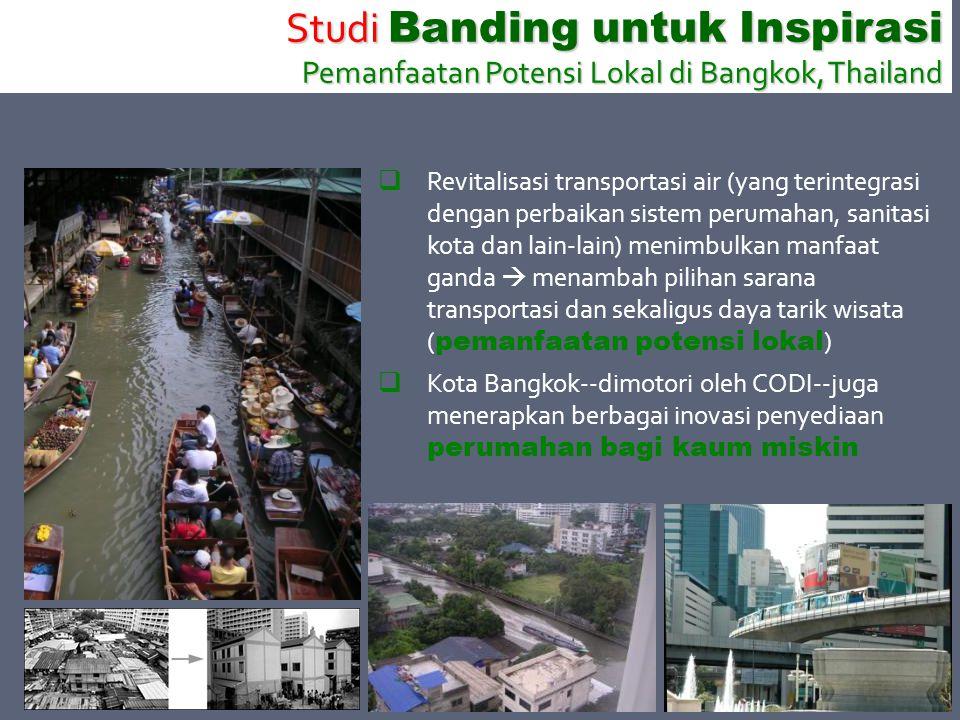 Studi Banding untuk Inspirasi Pemanfaatan Potensi Lokal di Bangkok, Thailand