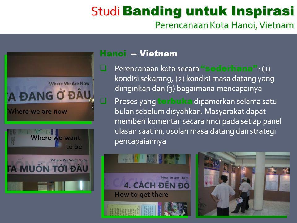 Studi Banding untuk Inspirasi Perencanaan Kota Hanoi, Vietnam