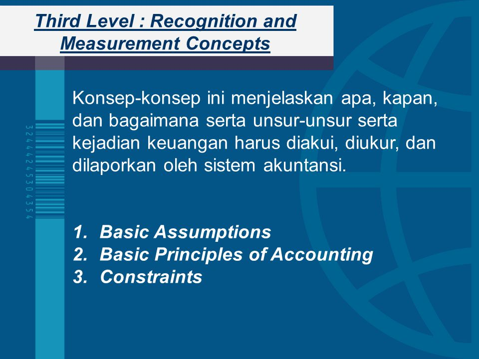 Third Level : Recognition and Measurement Concepts