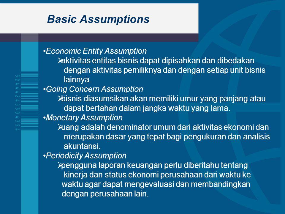 Basic Assumptions Economic Entity Assumption
