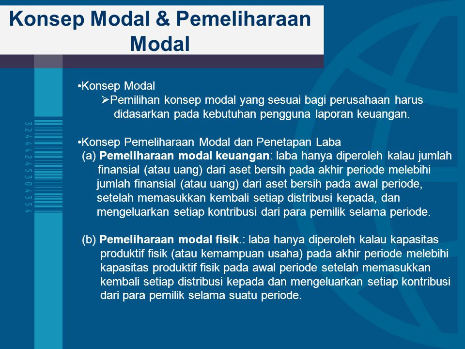 Konsep Modal & Pemeliharaan Modal