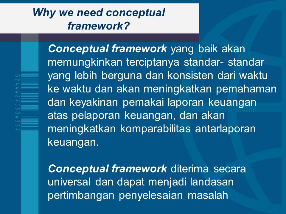 Why we need conceptual framework