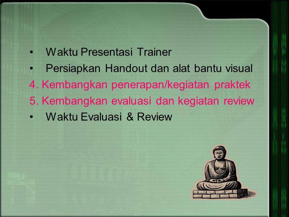 Waktu Presentasi Trainer