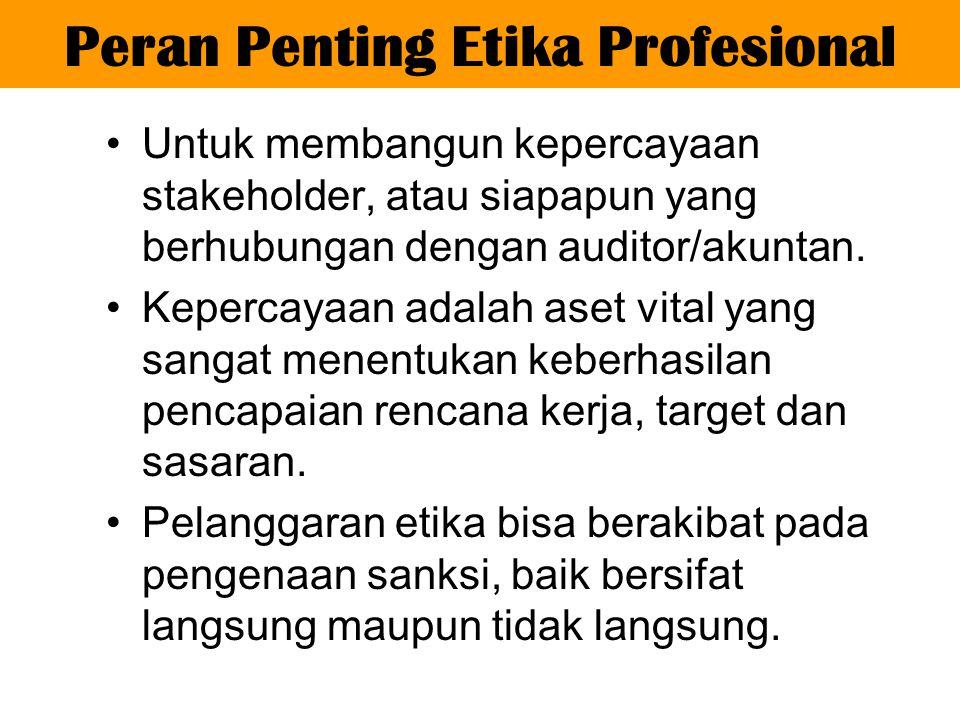 Peran Penting Etika Profesional