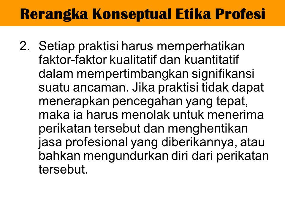 Rerangka Konseptual Etika Profesi
