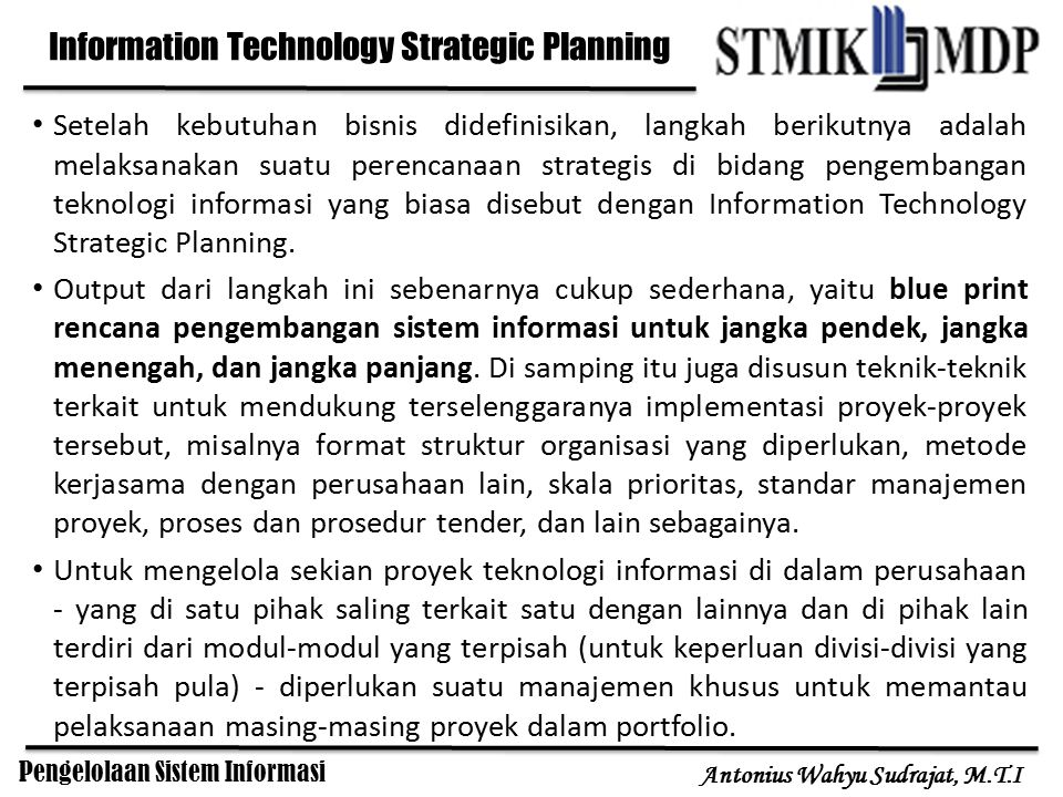 Information Technology Strategic Planning