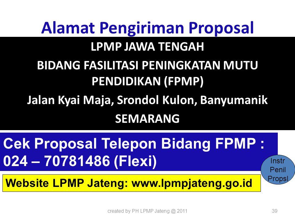 Alamat Pengiriman Proposal
